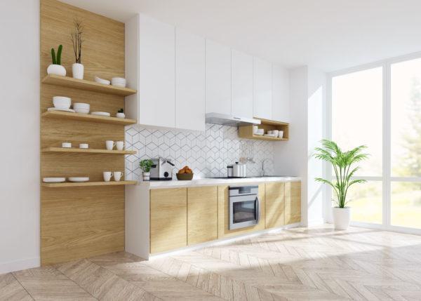 Cocina de madera moderna