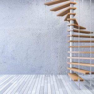 Escalera de madera de haya vaporizada