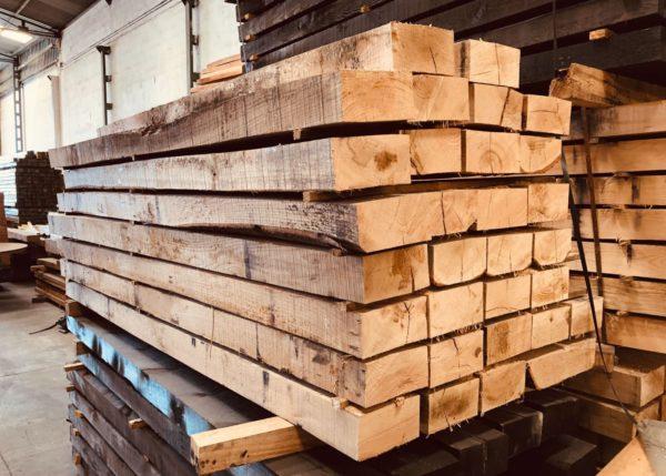 Traviesas de madera de roble